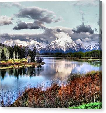 Oxbow Bend Canvas Print by Dan Sproul