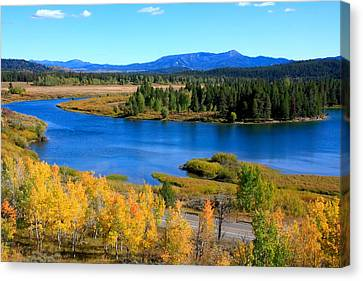 Oxbow Bend Grand Teton National Park Canvas Print by Aidan Moran