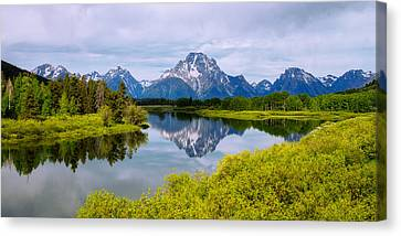 Oxbow Summer Canvas Print by Chad Dutson