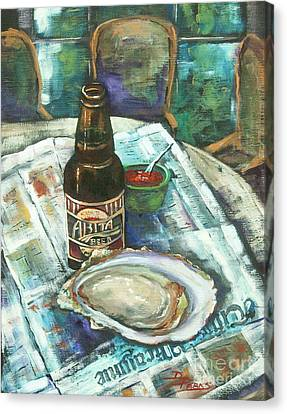 Oyster And Amber Canvas Print by Dianne Parks