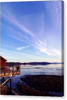 Oyster Flats Canvas Print by Pamela Patch