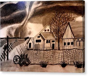 Oz  Tornado In Kansas Canvas Print by Jo-Ann Hayden
