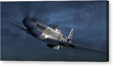 P-51 Ace George Preddy Canvas Print by Robert Perry