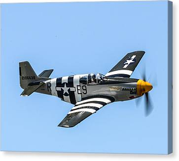 P-51 Mustang Fighter Canvas Print by Puget  Exposure