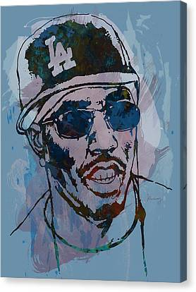 P Diddy - Stylised Etching Pop Art Poster Canvas Print by Kim Wang