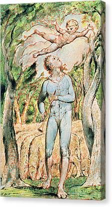 P.124-1950.ptl Frontispiece To Songs Canvas Print by William Blake