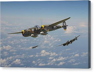 P38 Lightning - Pacific Patrol Canvas Print by Pat Speirs