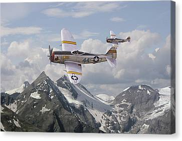 P47 Thunderbolt - 57th Fg Canvas Print by Pat Speirs