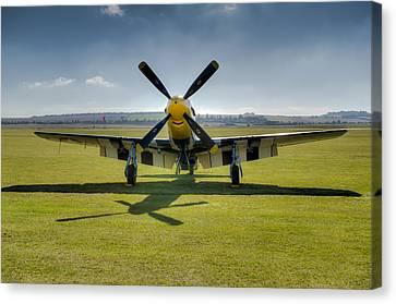 P51d Mustang Hdr Canvas Print by Gary Eason