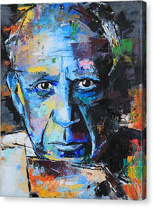 Pablo Picasso Canvas Print by Richard Day