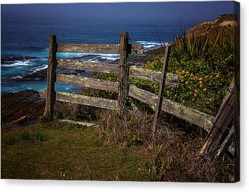 Pacific Coast Fence Canvas Print by Garry Gay