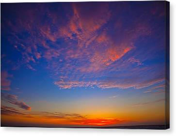 Pacific Coast Sunset Canvas Print by Garry Gay