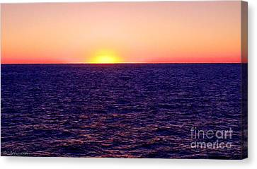 Pacific Sunset Off Laguna Beach Canvas Print by Bob and Nadine Johnston