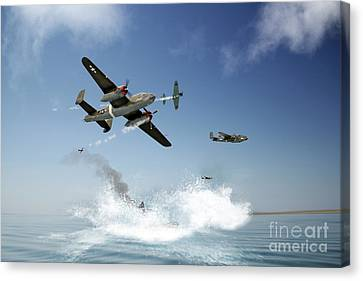 Pacific War Canvas Print by J Biggadike