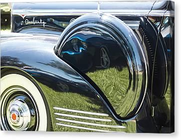 Packard With Reflections Canvas Print by Studio Janney