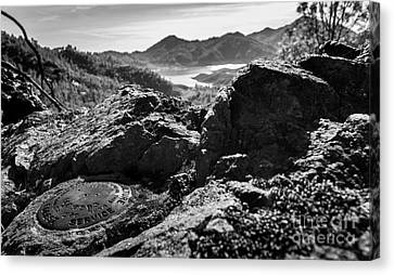 Packers Overlook Monochrome Canvas Print by Along The Trail