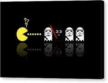 Pacman Star Wars - 1 Canvas Print by NicoWriter