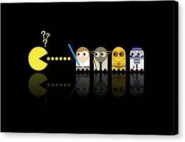 Pacman Star Wars - 3 Canvas Print by NicoWriter