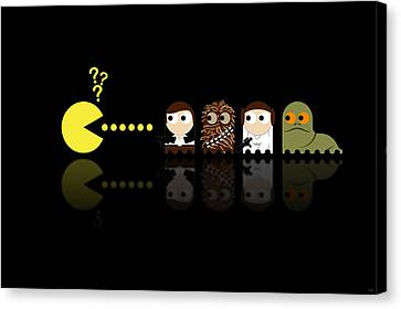 Pacman Star Wars - 4 Canvas Print by NicoWriter