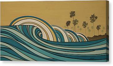 Paddle Out Canvas Print by Joe Vickers