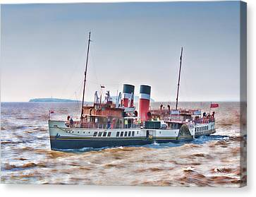 Paddle Steamer Waverley Canvas Print by Steve Purnell