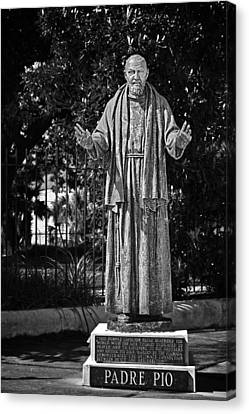 Padre Pio - St Louis Cemetery No3 New Orleans Canvas Print by Christine Till
