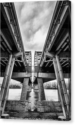 Page Bridge Geometry Canvas Print by Bill Tiepelman