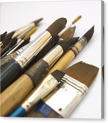 Paint Brushes Canvas Print by Bernard Jaubert
