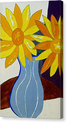 Paint By Number Canvas Print by Lola Connelly