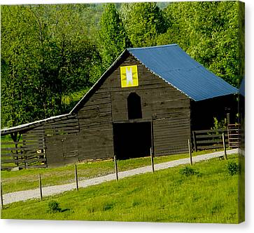 Painted Barn Quilt Two Canvas Print by Robert J Andler