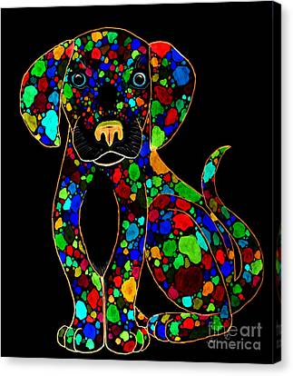 Painted Black Dog Canvas Print by Nick Gustafson