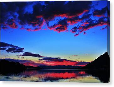 Painted Clouds Canvas Print by Benjamin Yeager