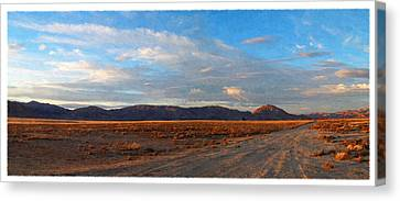Painted Golden Sunset Canvas Print by Glenn McCarthy Art and Photography