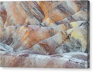 Painted Hills In Death Valley Canvas Print by Larry Marshall