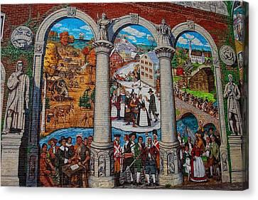 Painted History 2 Canvas Print by Joann Vitali