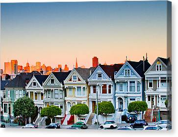 Painted Ladies Canvas Print by Bill Gallagher