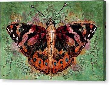 Painted Lady Canvas Print by April Moen