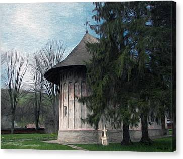 Painted Monastery Canvas Print by Jeff Kolker