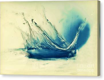 Painting Of Fresh Water Splash Canvas Print by Michal Bednarek