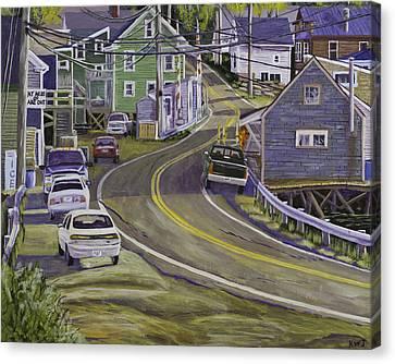 Main Street South Bristol Maine Canvas Print by Keith Webber Jr