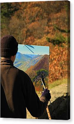 Painting Shenandoah Canvas Print by Dan Sproul