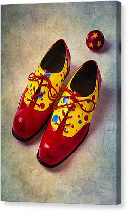 Pair Of Clown Shoes Canvas Print by Garry Gay