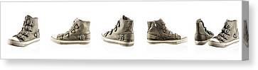 Pair Of New Sneakers Canvas Print by Nikita Buida