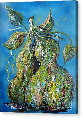 Pair Of Pears Canvas Print by Eloise Schneider