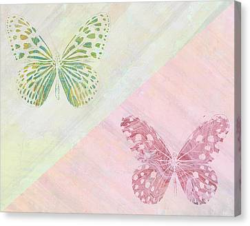 Pairs Of Wings Canvas Print by Aged Pixel