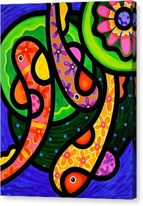 Paisley Pond - Vertical Canvas Print by Steven Scott