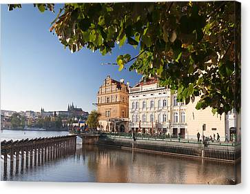 Palace And Museum At The Riverside Canvas Print by Panoramic Images