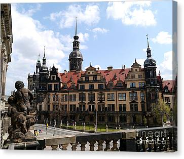Palace Church Dresden Canvas Print by Christiane Schulze Art And Photography