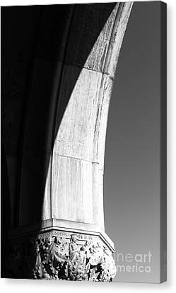 Palace Column Shadows Canvas Print by John Rizzuto