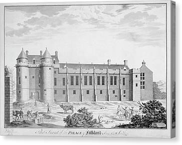 Palace Of Falkland Canvas Print by British Library